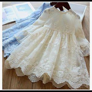 Lace dress Flower girl wedding summer easter baby